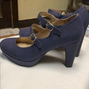 Jellypop Navy Blue Strapped Heels